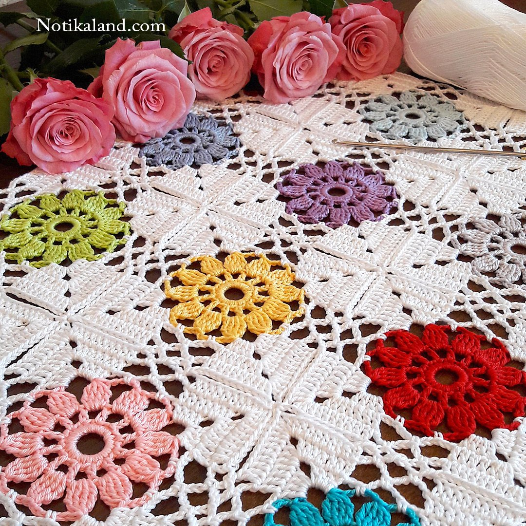 Crochet pattern for blanket,doily,tablecloth