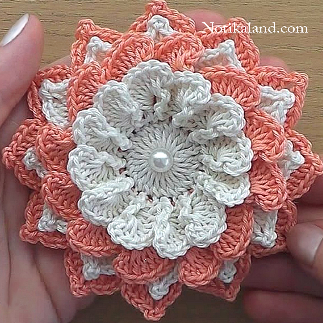 Crochet flower Easy tutorial