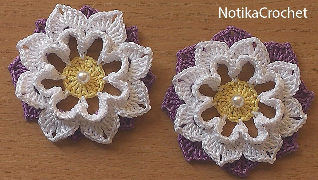 Crochet flower How to