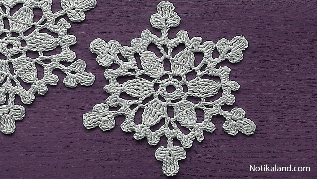 Crochet Snowflake Decoration for christmas tree