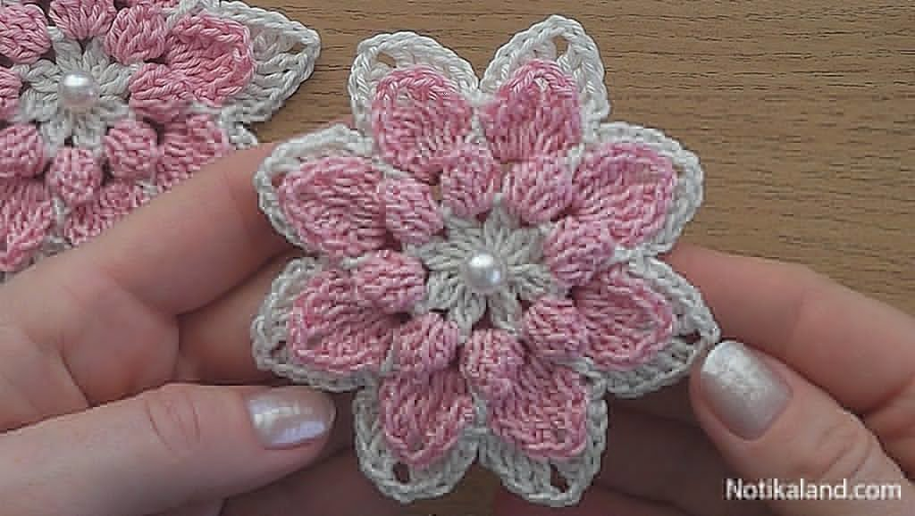 Crochet Easy tutorial.Beautiful flower.