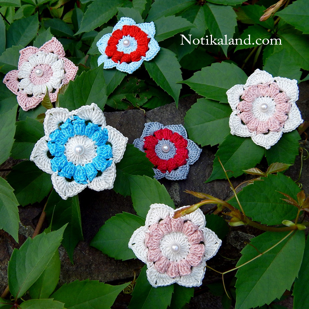 Very easy. Crochet flower.
