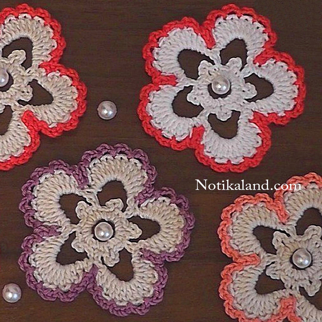 Crochet flower applique EASY Tutorial