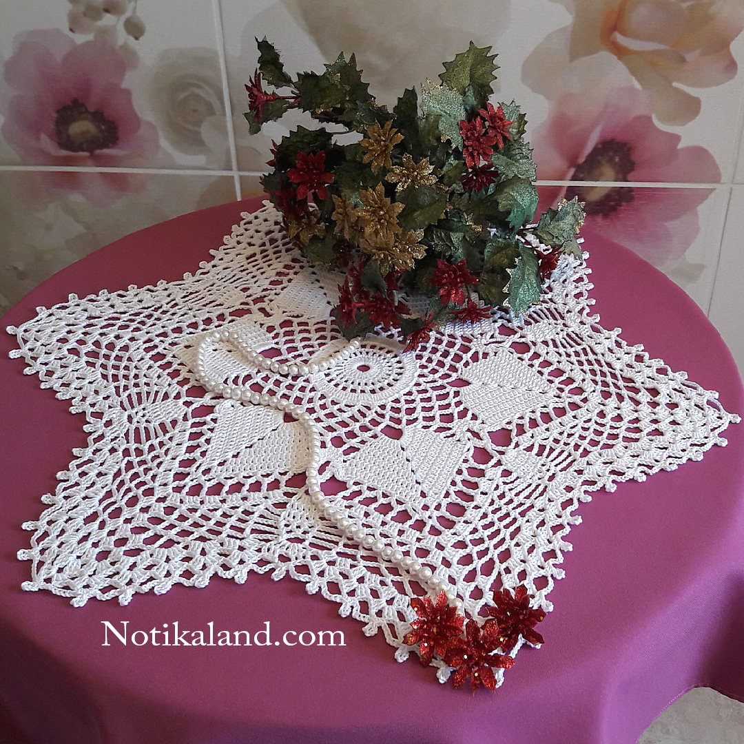 How to crochet lace doily