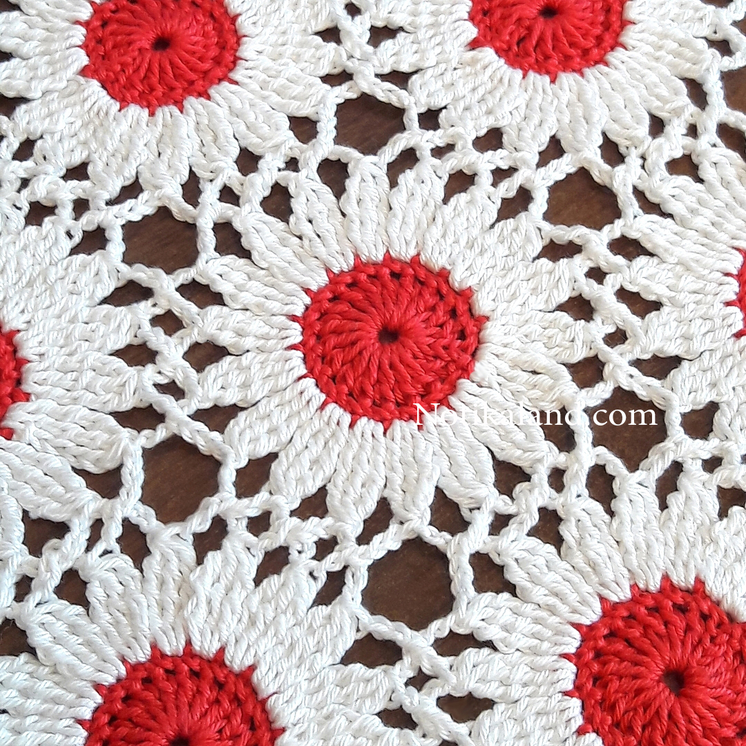 CROCHET Flower Motif. Pattern.