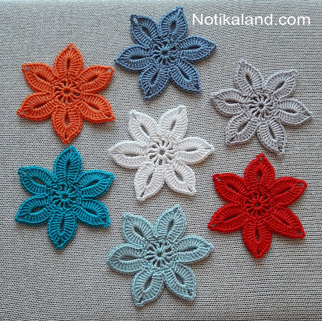Crochet. Flower. Beginner.